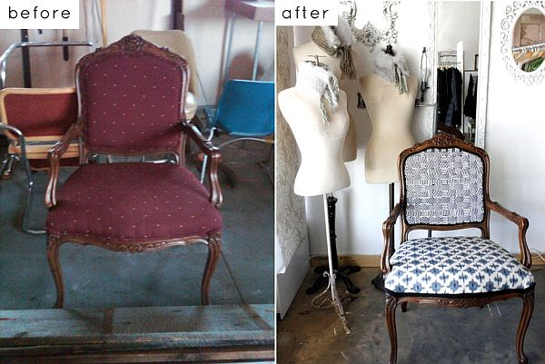 Kristen reupholstered chair. View in gallery - 28 Before-After Reupholstered Chairs