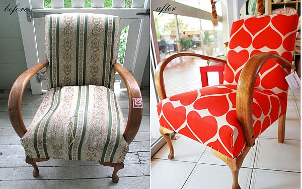 View in gallery & 28 Before-After Reupholstered Chairs