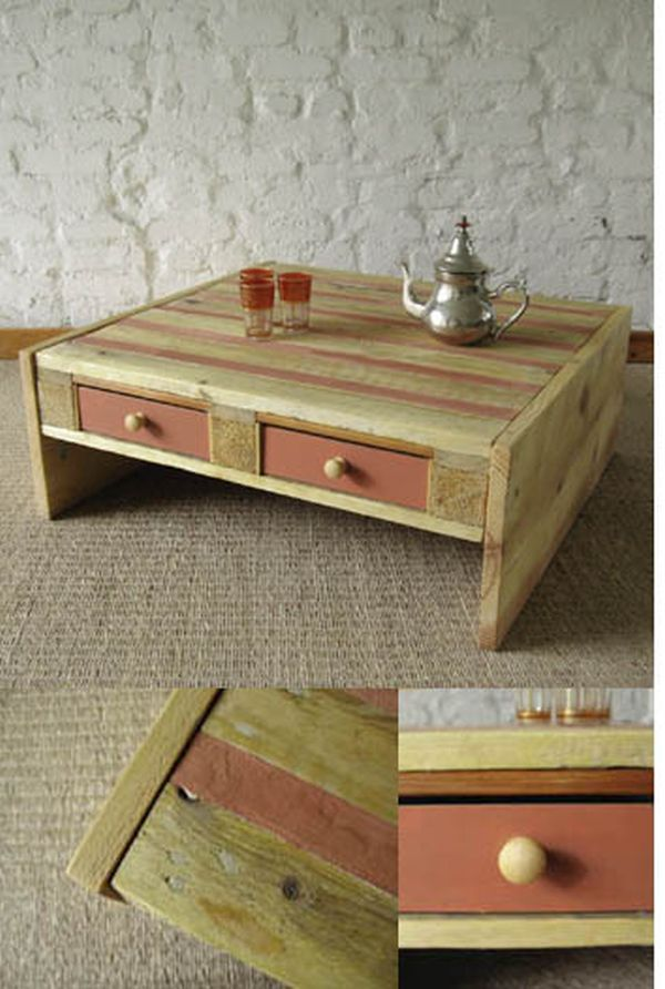 Superbe Oriental Style Pallet Coffee Table.