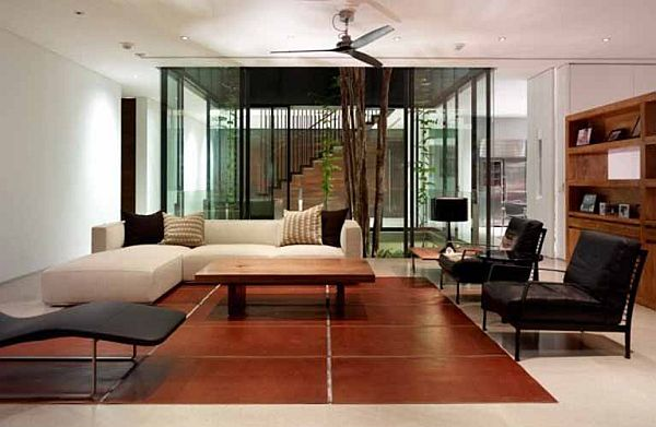 How to turn a house into a duplex for Duplex house living room designs