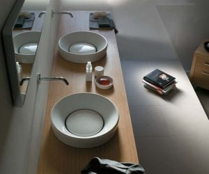 Orbis Ceramic Single Washbasin by Galassia