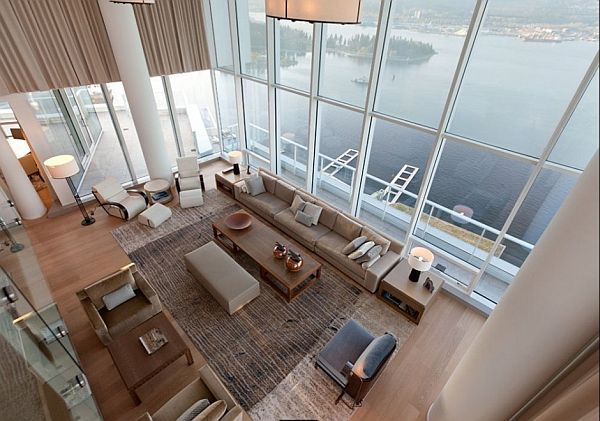 Modern penthouse apartment in downtown Vancouver by Robert Bailey