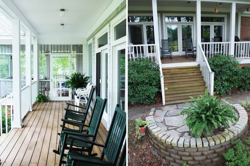 What is the difference between a porch balcony veranda for Definition for balcony