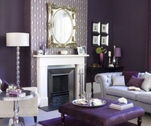 ... Purple Living Room Design
