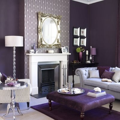 ... purple living room. View in gallery