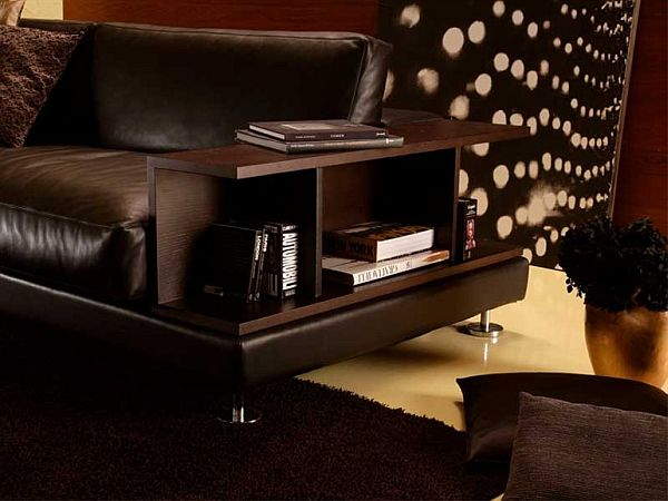 Etonnant Ribaldo: Sofa With Built In Storage And Display Shelf