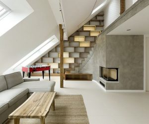 Grand attic loft in Prague by A1 Architects