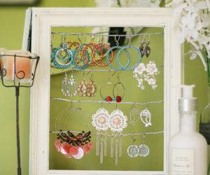 Vintage DIY Tabletop Earrings Organizer and Display
