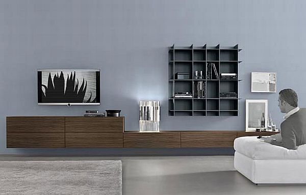 modular wall unit sintesi by carlo colombo. Black Bedroom Furniture Sets. Home Design Ideas