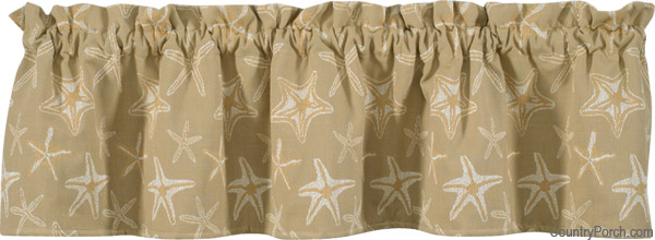 Superb Starfish Curtain Valance Amazing Design