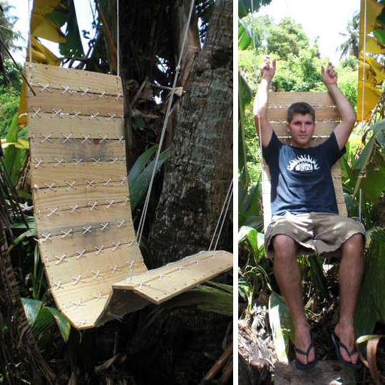 Swing pallets hanging chair