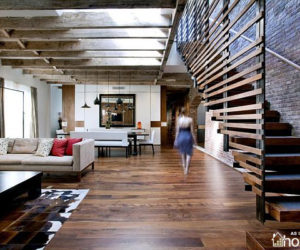 4.100 sq meter TriBeCa Loft Residence by A+I Design Corp