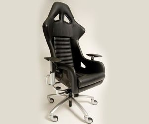 Custom made office chair with Ferrari F360 Challenge parts