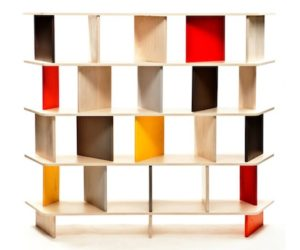 Colorful 2B bookcase by Mob