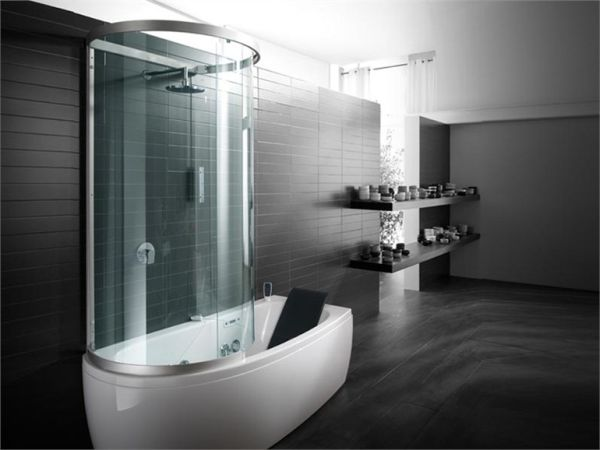 Armonya bathtub with shower perfect for small spaces for Bathtubs for small spaces