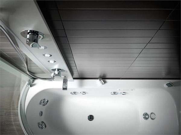 Armonya Bathtub with Shower, Perfect for Small Spaces
