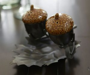 Lovely Acorn Salt & Pepper Set