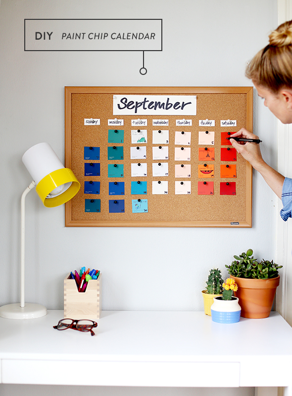 Back to school paint chip calendar