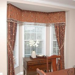 Bay windows curtains
