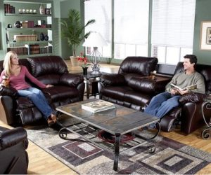 Incredibly relaxing Benson Burgundy Leather Match Motion Sofa