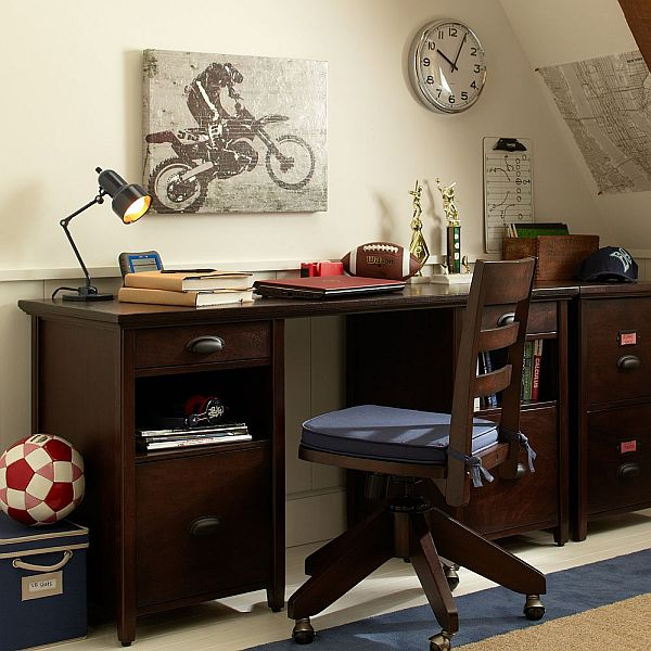 Back To School:Practical Chatham Large Storage Desk And Hutch Pictures