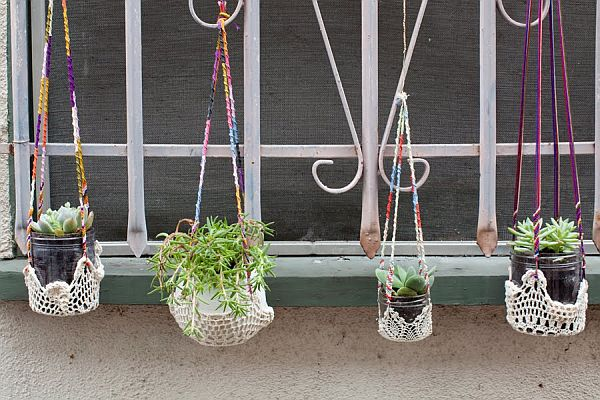 Colorful Hanging Window Planters4