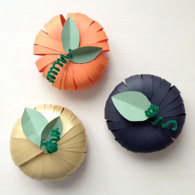 Colorful paper pumpkins
