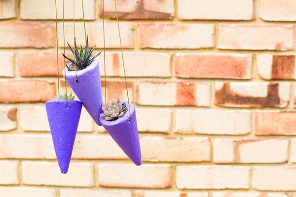 Cone Succulent hanging planters