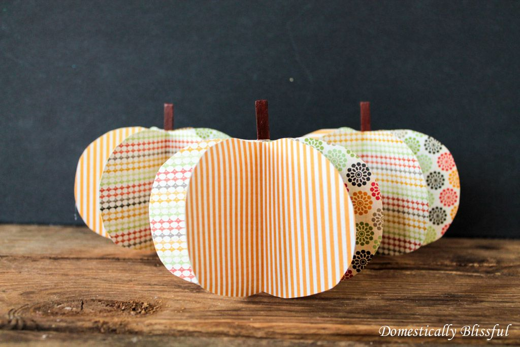 DIY 3D Paper Pumpkin
