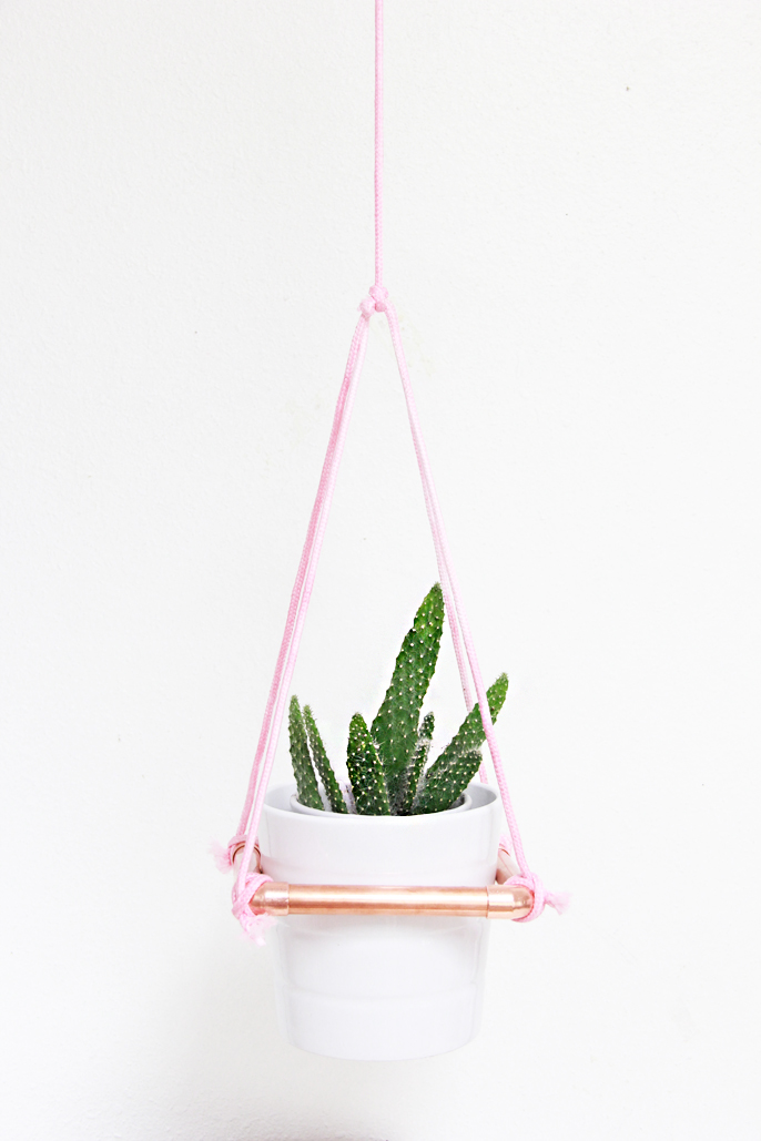 DIY Hanging Copper Planter