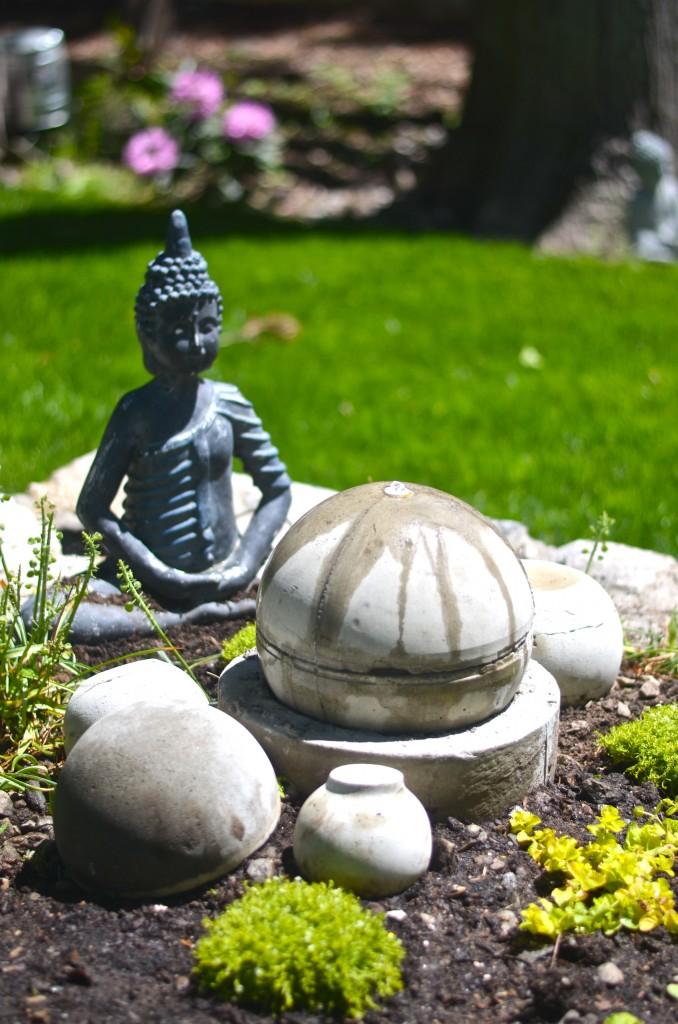 DIY concrete garden fountain