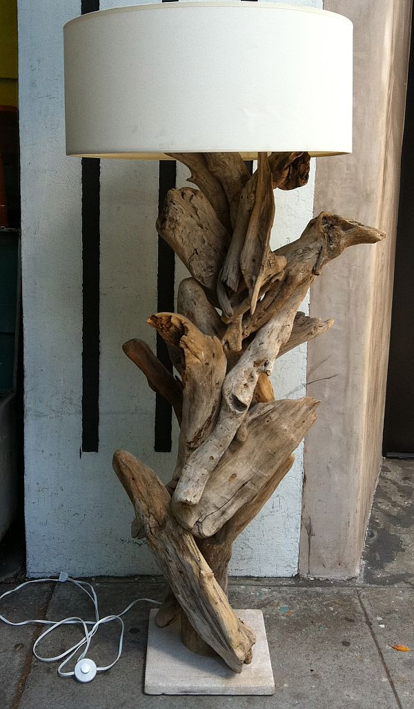 Driftwood Lamps That Bring The Beach And The Forest Into