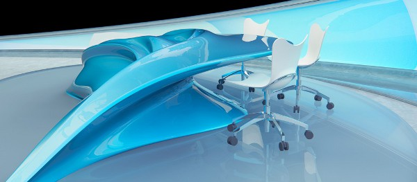Amazing Flowing Design Table