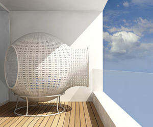 Sight- Sculptural Balcony Furniture by Tim Kerp