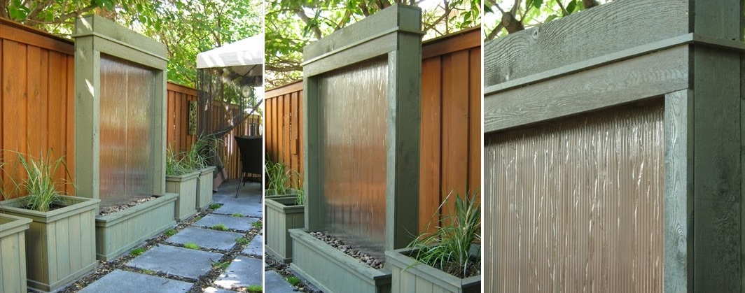 How to build a water wall for garden
