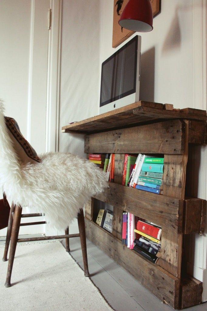 Inspiring tiny pallet desk