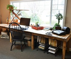 pallet office furniture. a bunch of desks made out wooden pallets pallet office furniture c