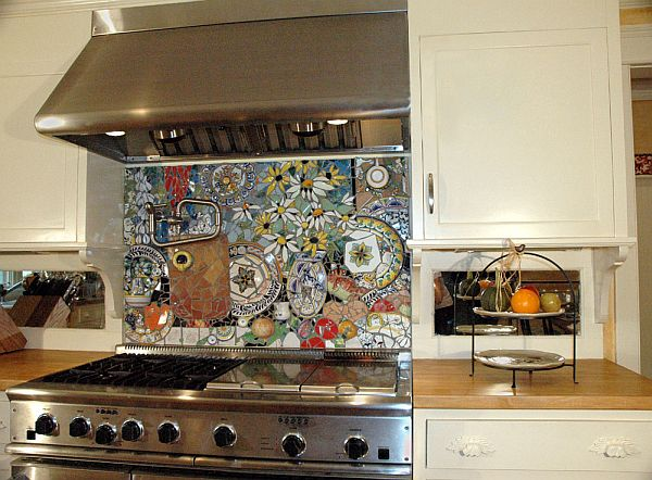 painted kitchen backsplash designs 16 wonderful mosaic kitchen backsplashes 3976