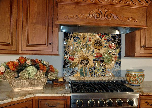 kitchen mosaic designs. View In Gallery 16 Wonderful Mosaic Kitchen Backsplashes