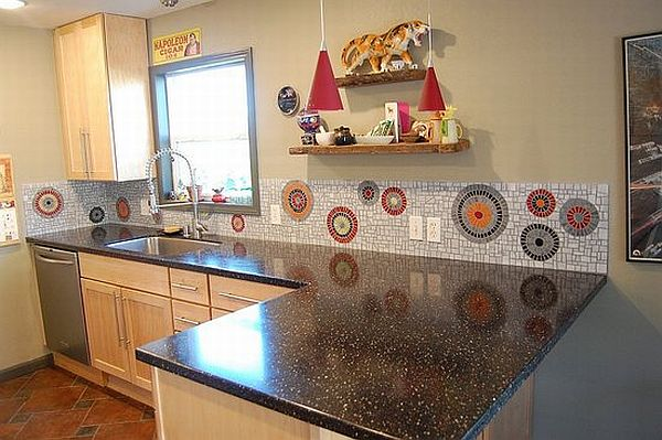 View in gallery. A mosaic backsplash ...