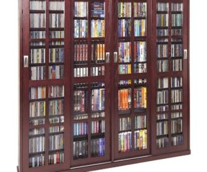 Multimedia Storage Cabinet With 36 Adjustable Shelves Awesome Design