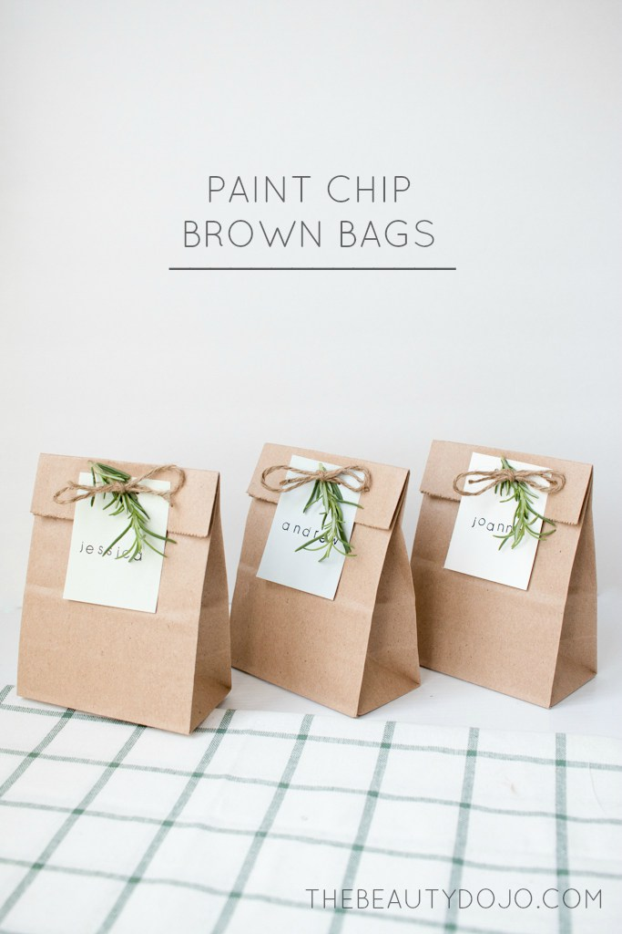 Paint Chip Brown Bags