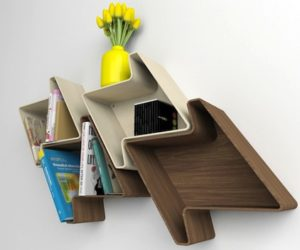 Funny Houndstooth Shelving by Julia Quancard