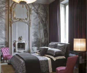 Procida Black and Burgundy bedding collection