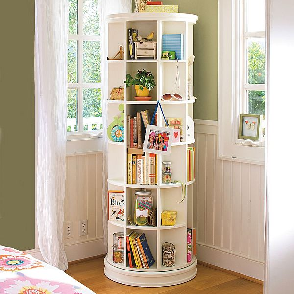Space Saving Revolving Bookcase
