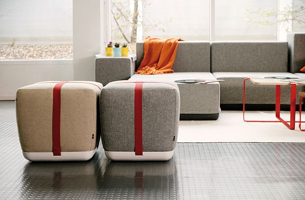 comfy modern and simple sake pouf. Black Bedroom Furniture Sets. Home Design Ideas