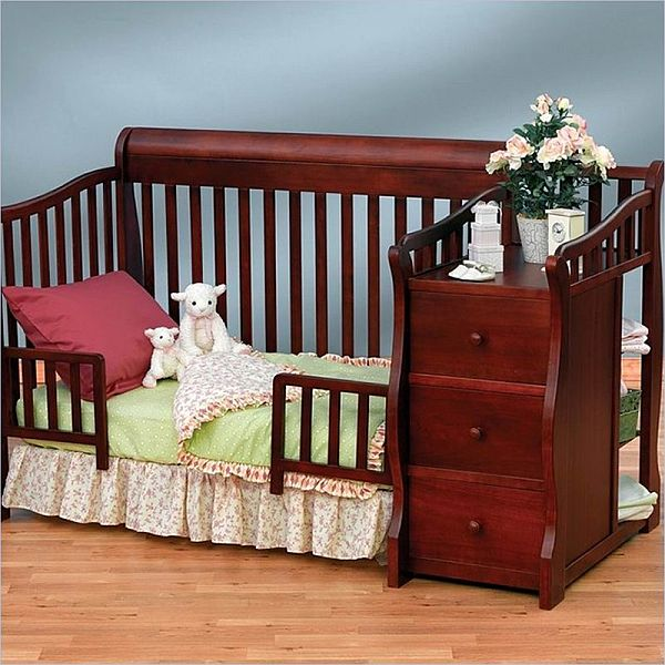 Sorelle Tuscany 4 In 1 Convertible Crib And Changer Combo