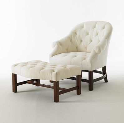 Matching T42 Chair And Ottoman