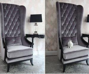 Very Velvet Blofeld Platinum Chair