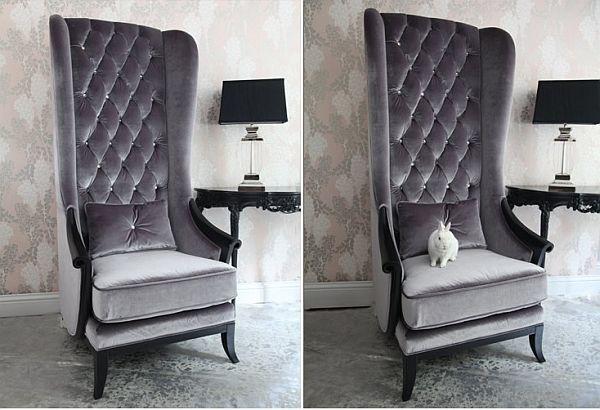 Etonnant Very Velvet Blofeld Platinum Chair